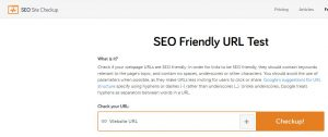 SEO friendly URL checkers
